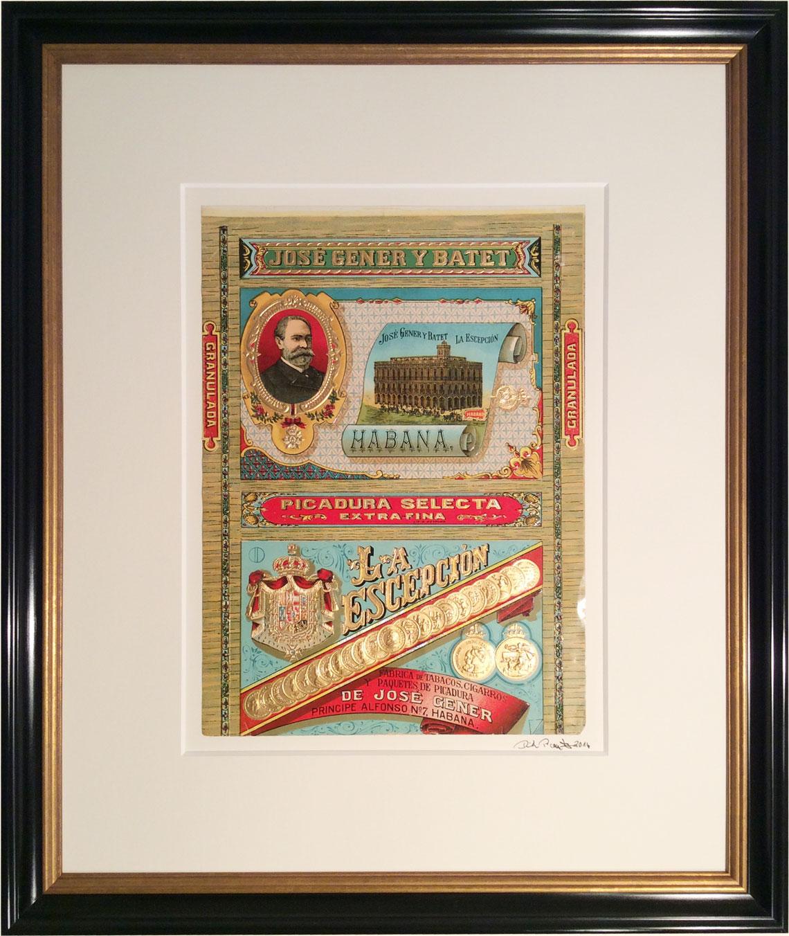 """historische Lithographie """"Jose Gener"""""""